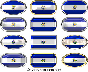 twelve buttons of the Flag of El Salvador