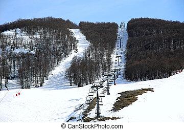 Campo Felice, Abruzzo mountain landscape in Italy