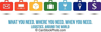 Logistics services around the world design concept