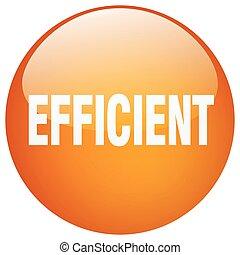 efficient orange round gel isolated push button