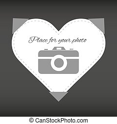 "Heart ""place for your photo"""