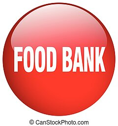 food bank red round gel isolated push button