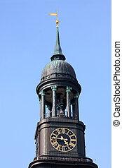 St. Michael's Church (Sankt Michaelis) in Hamburg, Germany