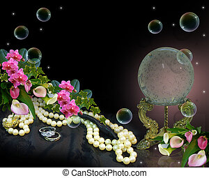 Crystal Ball romantic background - Image and illustration...
