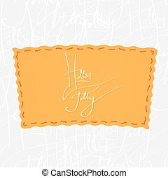 Holly Jolly Handwritten vector calligraphy over seamless...