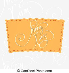 Holiday greetings lettering - Merry christmas. Handwritten...