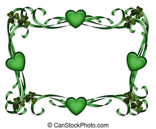 St Patricks Day Border - 3D Illustration for St Patricks Day...