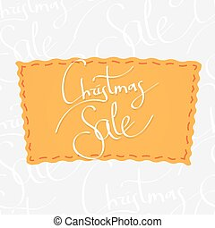 Holiday greetings lettering - Christmas sale Handwritten...
