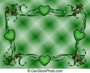 St Patricks Day Border - 3D Illustration for St Patricks Day...