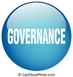 governance blue round gel isolated push button