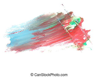 red blue grunge brush strokes - photo red blue grunge brush...