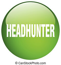 headhunter green round gel isolated push button