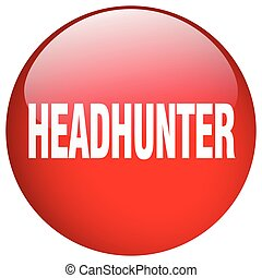 headhunter red round gel isolated push button