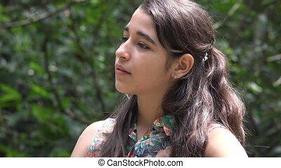 Young Teenage Girl Outdoors