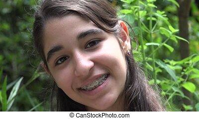 Young Teenage Girl Smiling