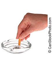 Quitting Smoking - Highkey view of smoker quitting
