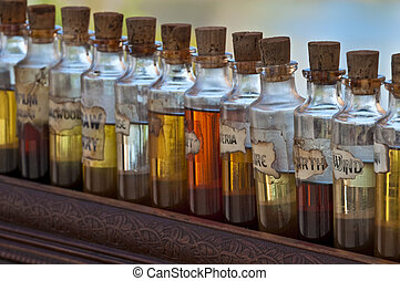 Aroma Bottles - Antique bottles of essentil fragances and...