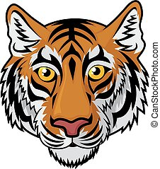 Tiger Head Mascot - Vector Illustration Of Tiger Head Mascot...