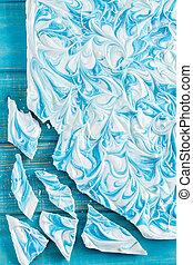 White Chocolate and Blue Vanilla Candy Bark - White...