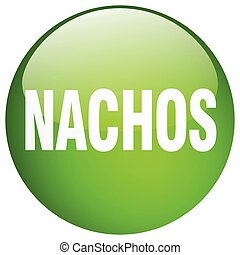 nachos green round gel isolated push button