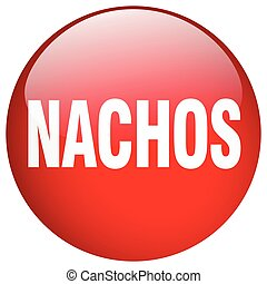 nachos red round gel isolated push button