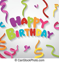 Happy Birthday greeting card - Vector Illustration Of Happy...