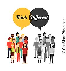 think diferent design - think diferent design, vector...