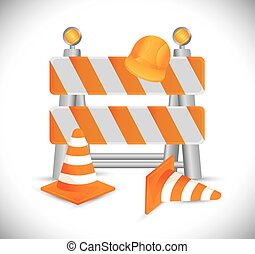 Under construction barrier design, vector illustration eps10...