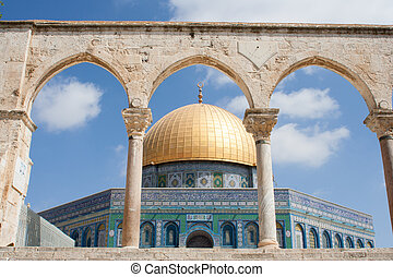 View of the Golden Dome in Jerusalem