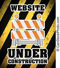 Under construction barrier design, vector illustration eps10...
