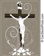 Jesus Christ in cross - Illustration of Jesus Christ in...