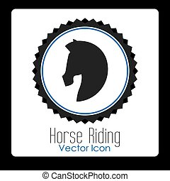 horse riding design, vector illustration eps10 graphic