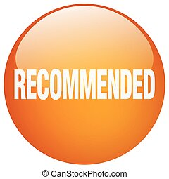 recommended orange round gel isolated push button