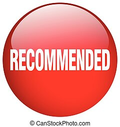 recommended red round gel isolated push button
