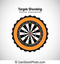 target shooting design, vector illustration eps10 graphic
