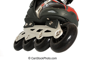 Roller skate - part of Roller skate isolated on white...