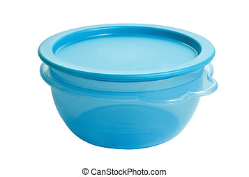 plastic food container like tupperware isolated on white...