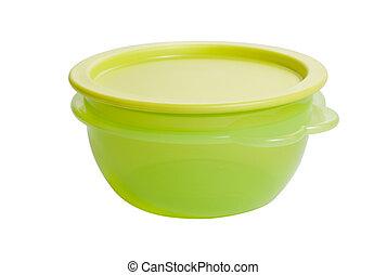plástico, alimento, contenedor, como, tupperware
