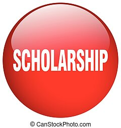 scholarship red round gel isolated push button