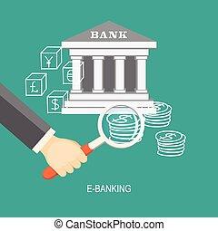 e-banking - Flat design modern vector illustration concept...