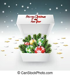 Christmas decoration in gift box
