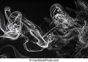 Fantasia on the smoke - abstract background of natural white...