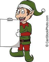 Christmass efl cute cartoon holding banner