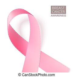 Pink breast awareness ribbon