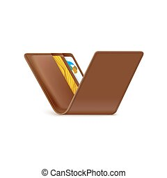 Wallet with credit card icon