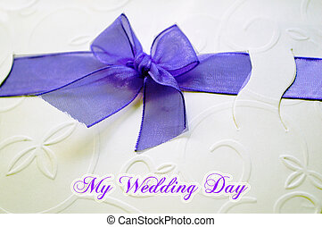 Wedding card with beautiful ribbon