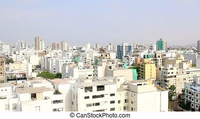 Miraflores, Lima, Peru. Time Lapse. buildings