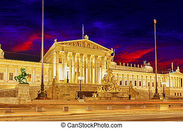 Parlament of Austria, in central of Vienna Austria