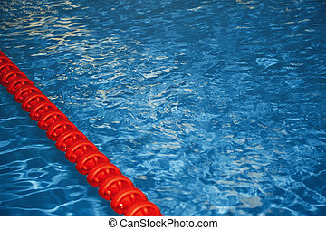Swimming pool with lane markers Horizontal photo