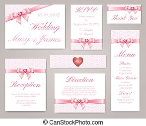 lace frame and pearl brooch - Wedding invitation template...